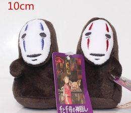 Wholesale Free Stuffed Toys - Hot sale Spirited Away No Face Stuffed Doll Hayao Miyazaki Cartoon Movie Spirited Away Plush Soft Toys 10cm Free Shipping