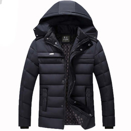 Wholesale Down Feather Jacket - Hot 2016 Winter New 90% White Duck Down Thick Warm old Mens Coats&Jackets Outdoor Detachable Hood Big Size Warm Men Coat N030