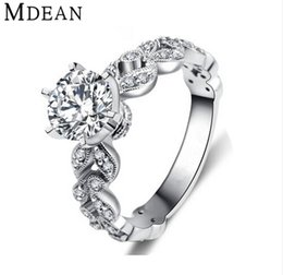 Wholesale Zircon Diamonds - fashion jewelry classic luxury AAA zircon cz diamond jewelry 1.5ct engagement wedding ring for women MSR097