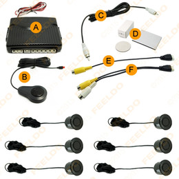 Wholesale Front Parking System - FEELDO Car 6 Sensors Dual Visual Front Rearview Video Parking Sensor Backup Radar System SKU#:2656
