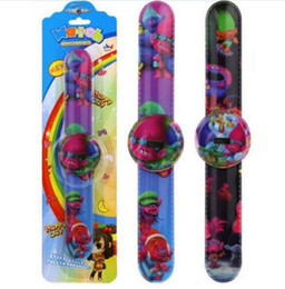 Wholesale Slap Sport Watches - Trolls Catoon Slap Watch Kids Poppy Moana Biggie Collection Movie Sport Watchband Electronic Watch Xmas Gift DHL Free Shipping
