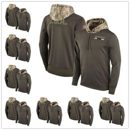 Wholesale Hoodie Orange - Men's Youth Women's New York Oakland Philadelphia Pittsburgh Tampa Seattle San Francisco Salute to Service Sideline Therma Pullover Hoodie