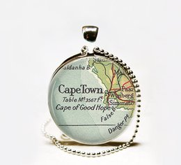 Wholesale Cape Necklaces - New Fashion Cape Town map pendant Necklace,Cape Town pendant, Cape Town necklace,South Africa map jewelry