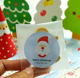 Wholesale Merry Christmas Baking - Wholesale-80x Merry christmas cute snowflake Christmas Tree Seal Sticker christmas party baking package paper tags labels xmas gift