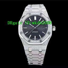 Wholesale Set Mens Steel - Luxury Brand Stainless Steel Case with diamond-set Bezel Automatic Mens Watch 37mm Diamond Bracelet Sapphire Crystal Sport Mans Wristwatches