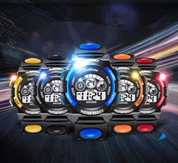 Wholesale Digital Watch Touch Led - Kids Watches Luxury Brand Men Watches Sports Watches Touch LED Light Watch Waterproof Electronic Watch Halloween Christmas Gifts 187