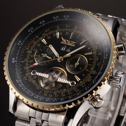 Wholesale Designer Gems - Winner professional Watch Mens Watches Blue Ocean Fashion Casual Designer Stainless Steel Men Top Brand Luxury Automatic Watch Clock