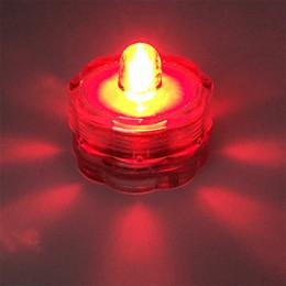 serbatoio di pesci dell'acquario dei leds Sconti Il vaso decorativo LED Plum Style LED può cambiare il grado IP68 della luce della candela 2032 della luce della batteria
