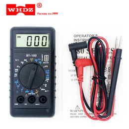 Wholesale pocket multimeter - DHL 20PCS WHDZ DT182 Extra Mini Digital Multimeter with Buzzer Overload protection Pocket Voltage Ampere Ohm Meter Test Probe DC AC LCD