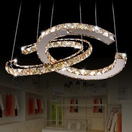 Deutschland Edelstahl Kristall Lampe moderne LED kreative Persönlichkeit Kronleuchter Wohnzimmer Bekleidungsgeschäft Esszimmer Beleuchtung Versorgung