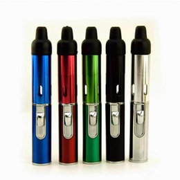 Wholesale Pipe Vaporizers - Click N Vape click and vape click a toke sneak A Vape sneak a toke smoking metal pipes vaporizers with lighter DHL Free