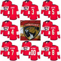 9d74cd57a 2017-2018 Season Florida Panthers Jersey 1 Roberto Luongo 3 Keith Yandle 4  Michael Downing 5 Aaron Ekblad Custom Hockey Jerseys Cheap