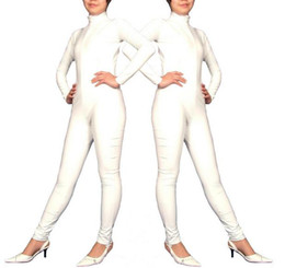 Wholesale Fun Sexy Costumes - Cosplay Halloween Costumes white sexy full body suit clothing PVC leather Game fun underwear 7colors can choose