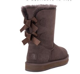 Wholesale Chocolate Snow - FREE SHIPPING 2017 SALE New Fashion Australia classic NEW Womens boots Bailey BOW Boots Snow Boots for Women boot
