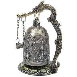 Canada Antique Décoration de La Maison En Alliage de Zinc Vintage Style Bronze Serrure Dragon Sculpté Bouddhiste Bell Chinois Géomantic Artware Exquis Offre