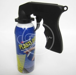 Wholesale Gun Paint Cars - Wholesale-Free Shipping 3PCS Plasti Dip Handle Spray Can Gun Spray Paint Tools Rim Membrane Portable Trigger Handle For Car Paint