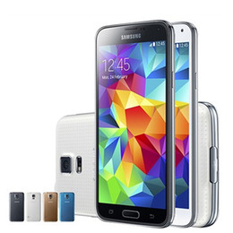 Wholesale cell core phones - Refurbished Samsung Galaxy S5 i9600 SM-G900 G900T G900A G900V G900P G900F 4G LTE 5.1Inch IPS Screen 2GB 16GB Cell phone