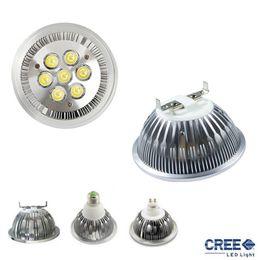 Lampe g53 ar111 en Ligne-AR111 G53 E27 GU10 14W 18W Led plafonnier plafonnier Dimmable QR111 ES111 blanc froid frais led ampoules 60 faisceau 110V 220V