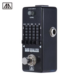 Wholesale Guitar Graphics - AROMA AEB-5 Graphic Bass Guitar 5-Band EQ Equalizer Effect Pedal True Bypass Aluminum Alloy Body Guitar boss pedals