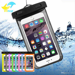 Wholesale Wholesale Pouches - Dry Bag Waterproof case bag PVC Protective universal Phone Bag Pouch With Compass Bags For Diving Swimming For smart phone up to 5.8 inch