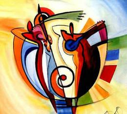 Доставка картин онлайн-Ручная роспись искусство современный цвет абстрактная живопись маслом на холсте по Alfred Gockel Arts paintings Free Shipping Hot Sell Home Decorative