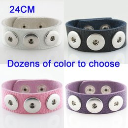 Wholesale Copper Imports - Wholesale-DIY OEM 24CM soft imported Full-Grain real leather snaps bracelets for snaps buttons fit ginger snaps KB0900