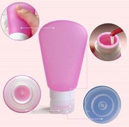 Wholesale Comestic Bottles Wholesales - Portable Soft Silicone Travel shampoo comestic Bottles Set 37ml 60ml 89ml Fan Shape Packing Bottle For All Liquid Toiletries 200pc h139