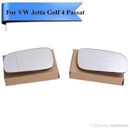 Wholesale volkswagen side mirror - 2x Car Exterior Side Door Rearview Wing Mirror Glass For VW Jetta Golf 4 Passat B5 B5.5 MK4 Seat Sharan Car Styling #P410