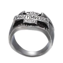 Wholesale motorcycle jewelry rings - European and American men's stripes, rings, Harry motorcycles, stainless steel rings, jewelry.