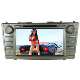 Wholesale Dvd Player For Toyota Camry - New MTK3360 faste speed 512Mb RAM WINCE 6.0 car DVD player gps navi for toyota camry 2007-2011 radio bluetooth free rearview camera and map