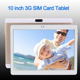 Wholesale Tablet Sim Cards Phone - 10 inch Original 3G 4G Phone Call SIM card Android 6.0 Octa Core IPS WiFi GPS FM Tablet pc 2 GB + 16 GB Anroid 6.0 Tablet Pc