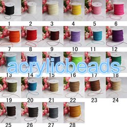 Wholesale Rolled Threads - Cheap 1mm Waxed Nylon Cord Knotting Book Binding Thread Macrame Thread Bracelet Beading Jewelry Supplies 90M roll
