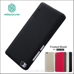 Wholesale Nillkin Cover Case - Wholesale- Original Nillkin For Xiaomi mi5s mi 5s Cover Hard Case Phone Shell Hight Quality Super Frosted Shield +Screen Protector
