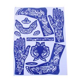 Wholesale Wholesale Airbrush Tattoo Kits - Wholesale- 1 Sheet India Henna Temporary Tattoo Stencils For Hand Leg Arm Feet Body Art Decal 28.5*38cm