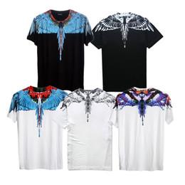 Wholesale Purple Feathers - Marcelo Burlon T Shirt Italy County Of Milan Feather Wing Men T-Shirts Fashion 2017 Casual women Summer Style Tee Marcelo Burlon