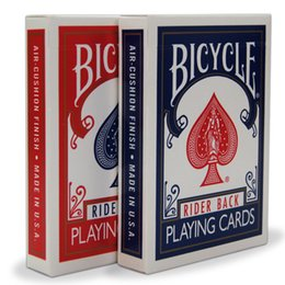Wholesale playing free poker - NEW Bicycle Poker 1pcs Blue or Red Standard Bicycle Playing Cards Magic Tricks Free Shipping