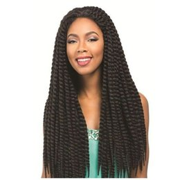 "Wholesale America Pack - America And Europe Hot12pcs x3 Pack 22"" Crochet Braids Braiding Hair Dreadlock for Black Women Synthetic Hair Black Brown JB2Bx3"