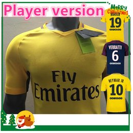 Wholesale Player Version - Player version 17 18 NEYMAR JR home away shirt T SILVA CAVANI DI MARIA PASTORE 2017 2018 Verratti Matuidi seasons custom jersey