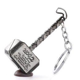 1 pc Vintage Thor Hammer Llaveros Marvel Avengers Hombres Llaveros Película Titular de la llave Thor El Mundo Oscuro Buscador de llaves Bolsas de fábrica al por mayor desde fabricantes