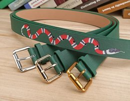 Wholesale Formal Men Fashion - Hot selling green colors Mens Belts Luxury High Quality Designer Belts For Men And Women styles optional attribute for gift