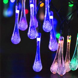 Wholesale Solar Garden House - LED Solar String Lights 650cm 30pcs Ice-ballarm Lamps House Garden Festival Lighting Waterproof Outdoor Decorations Home Landscape Indoor