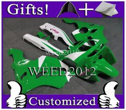 Wholesale Kawasaki Zx6r 97 Green Fairings - green motorcycle cowl for Kawasaki ZX-6R 1994-1997 1994 1995 1996 1997 ZX 6R 94 95 96 97 ABS Plastic Fairing