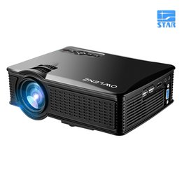 Wholesale Movie Projectors For Home - Wholesale-Unique SD50 plus MINI Portable LED Projector 800*480 1500Lumens For Video Games TV Home Theater Movie Support HDMI VGA AV SD