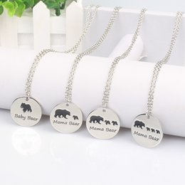 Wholesale Indian Bears - New Trendy alloy Mama bear necklace Warmly Mother's day Popular gift necklace pendant