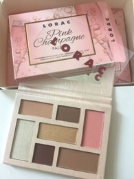Wholesale Mega Color - New Lorac Pink eyeshadow palette cosmetics Champagne Holiday Mega PRO makeup eye shadow 7 Color kyshadow lorac pro 3 palettes Free shpipping