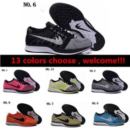 Wholesale Sky Racer - Free Shipping Top Quality Fly Racer Running Shoes For Women & Men, Lightweight Breathable Athletic Outdoor Sneakers Eur 36-45