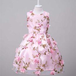 Wholesale Chinese Formal Short Dresses - Summer Children Girl Dresses Kids Chiffon Puff Skirt Girls Flowers Princess Dresses Kids Girls Flower Dress