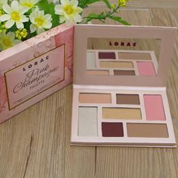 Wholesale Mega Pink - Makeup LORAC 2017 Lorac pink champagne Holiday Mega PRO Palette Eye Shadow 7Color Makeup DHL free shpipping