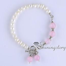 Wholesale Semi Jewels - white freshwater pearl bracelet semi precious stone toggle bracelet wholesale boho jewelry gypsy jewelry boho bracelets wholesale boho jewel