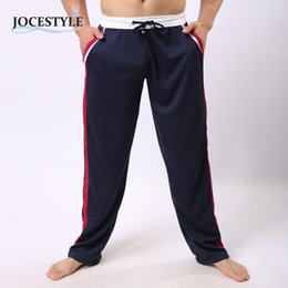 Wholesale Boys Tracksuit Bottoms - Wholesale- Men's Pants Autumn Sweat Trousers Long Elastic Pants For Men Boys Bottoms Workout Pants Casual Tracksuit